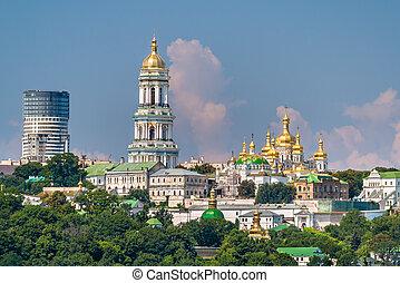 ucraina, monastery., kiev, ortodosso, lavra, pechersk