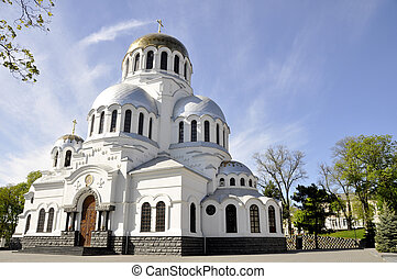 ucraina, ortodosso, famoso, chiesa, nevsky, kamianets-podilskyi, alessandro