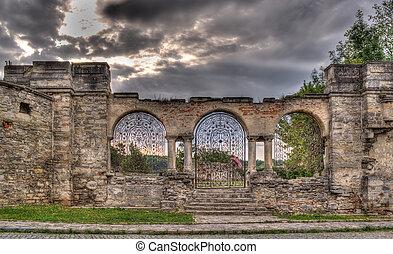 ucraina, recinto, campanile, kamyanets-podilsky, armeno, cattedrale