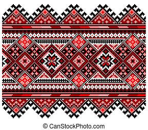 ucrainian, nemzeti, díszítés