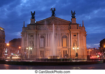 ucrania, ópera, lviv, /, casa