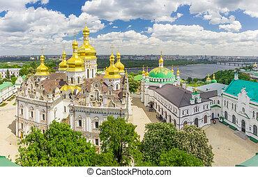 ucrania, kyiv, suposición, lavra, refectorio, iglesia, ...