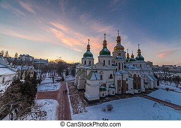 ucrania, s., sofia, kiev, catedral
