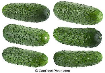 ?ucumber on white collection - ?ucumber set vegetable...
