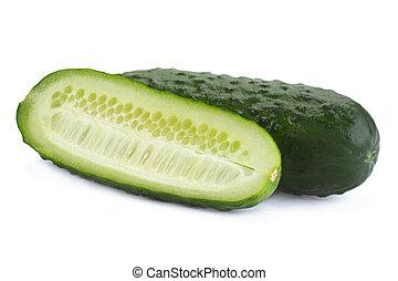 ?ucumber vegetable closeup isolated on white