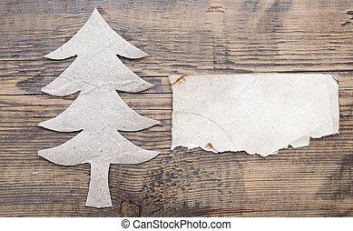 udělal, dávný, text, strom, vánoce doklady, čistý, tvůj