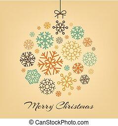 udělal, sněhové vločky, koule, Oběšení, vánoce, Lem