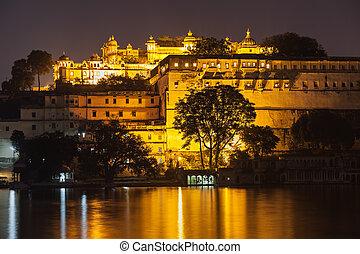 udaipur, 宮殿, 都市