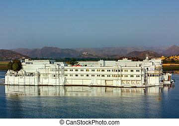 udaipur, hotel, jezioro, pałac