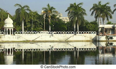 Udaipur. - One of the lakes in the city of Udaipur,...