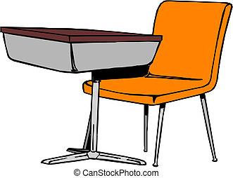 uddann skrivebord