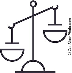 uderzenia, editable, znak, ilustracja, znak, sprawiedliwość, wektor, ikona, kreska, tło
