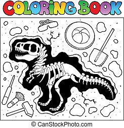 udgravning, coloring bog, site