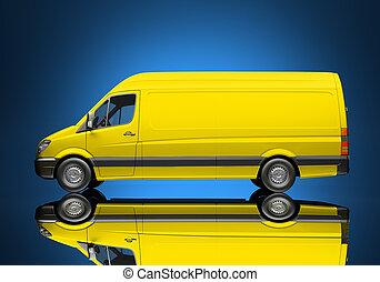 udlevering lastbil, ikon