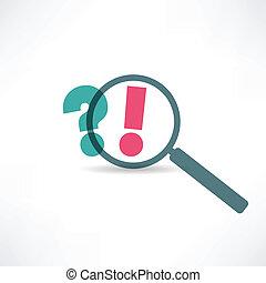 udråb marker, spørgsmål, ikon, punkt