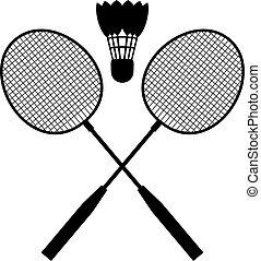 udrustning, badminton