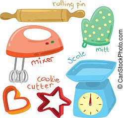 udrustning, bagning