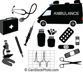 udrustning, medicinsk