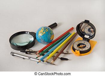 udrustning, skole, 2