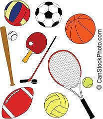 udrustning, sport
