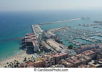 Udsigter,  Alicante, antenne, halvmørket