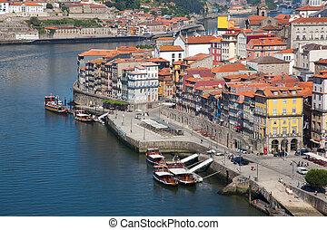 udsigter, i, porto, portugal