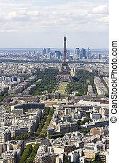 Udsigter,  Montparnasse, antenne,  Paris, frankrig