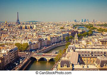 udsigter, på, paris