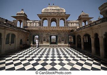 udvar, indiai, palota