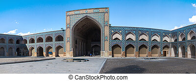 udvar, mecset, jameh, irán, isfahan