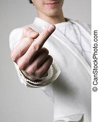 udzielanie, średni palec