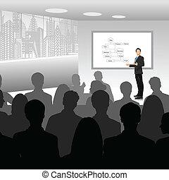 udzielanie, biznesmen, prezentacja