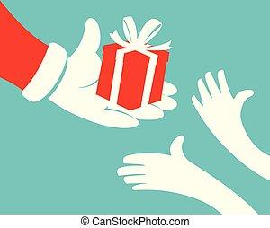 udzielanie, boks, święty, dar