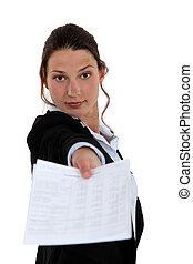 udzielanie, kobieta, kontrakt