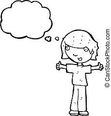 udzielanie, symbol, do góry, kciuki, rysunek, człowiek