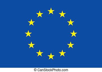 UE flag - Vector European Union flag