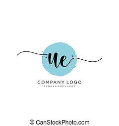 UE Initial handwriting logo design - Initial handwriting ...