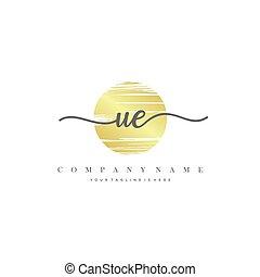 UE Initial handwriting logo vector. - Initial handwriting ...