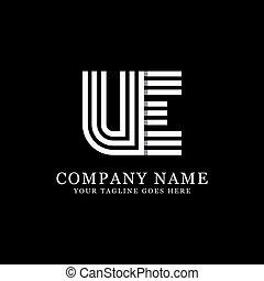 UE initial logo designs, creative monogram logo template, ...
