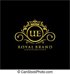 UE Letter Initial Luxurious Brand Logo Template. - initials ...
