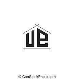 UE Letter logo icon design template elements - Letter Logo ...