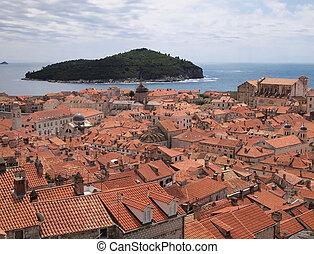 ueber den Daechern von Dubrovnik - rooftop view of...