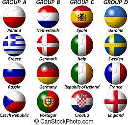 UEFA Euro 2012 Group light - groups state flag euro...