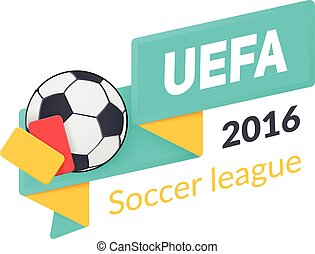 UEFA Euro 2016 badge isolated on white. - Vector template...
