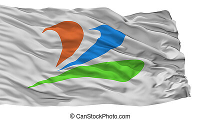 Uenohara City Flag, Japan, Yamanashi Prefecture, Isolated On...