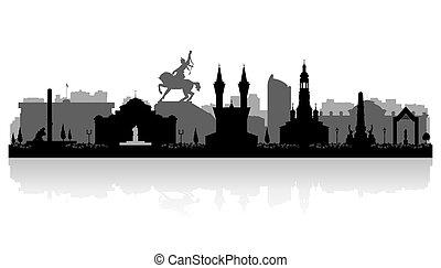 Ufa Russia city skyline vector silhouette illustration