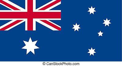 ufficiale, colori, proporzione, australia, nazionale, correctly., flag., bandiera