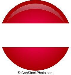 ufficiale, colori, proporzione, austria, nazionale, correctly., flag., bandiera