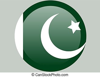 ufficiale, colori, proporzione, nazionale, correctly., pakistan, flag., bandiera