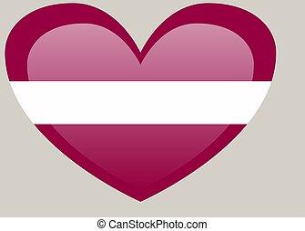 ufficiale, colori, proporzione, nazionale, lettonia, correctly., flag., bandiera